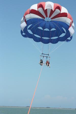 Cocoa Beach Parasail: High in the sky