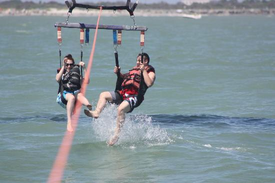 Cocoa Beach Parasail: Splashing