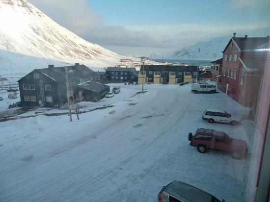 Spitsbergen Hotel: view from room
