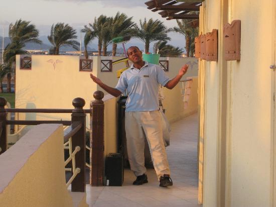Concorde El Salam Hotel: Our friendly, chatty room cleaner.