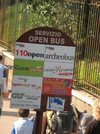 Trambus Open: Look for these signs to find your stops.
