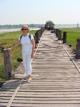Pont d'U Bein : En el Puente de Teca