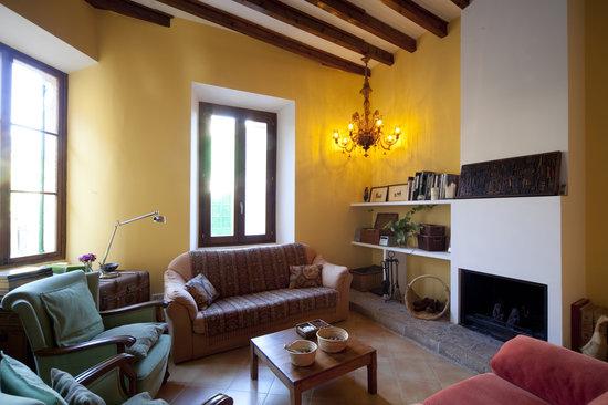 Es Petit Hotel de Valldemossa: Sala chimenea