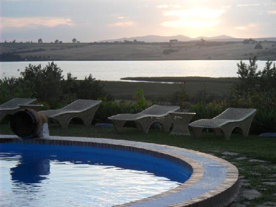 Hacienda El Santiscal: Atardecer desde el jardin