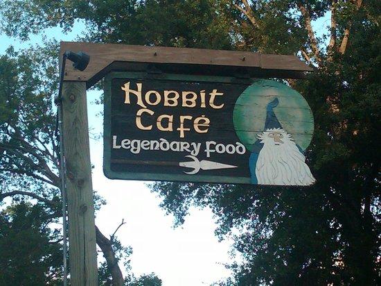 Hobbit Cafe: nice sign, but....
