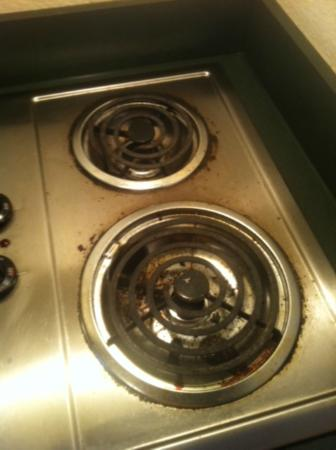 Quality Inn & Suites: Disgusting dirty kitchen appliances