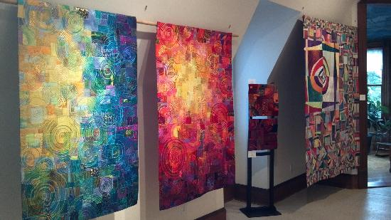 La Conner Quilt & Textile Museum: 3rd floor exhibit of art quilts by Carol Taylor