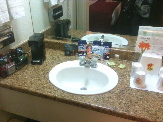 Kings Inn Anaheim: Sink with samples