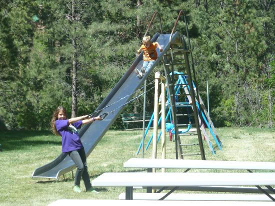 Pine River Lodge: great play ground area with good old fashion fun equipment