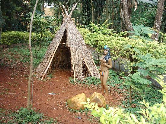 Manacá Hotel: recreación de una choza indígena en el zoo.cercano al hotel