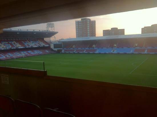 West Ham United Hotel: pitch and ground from room