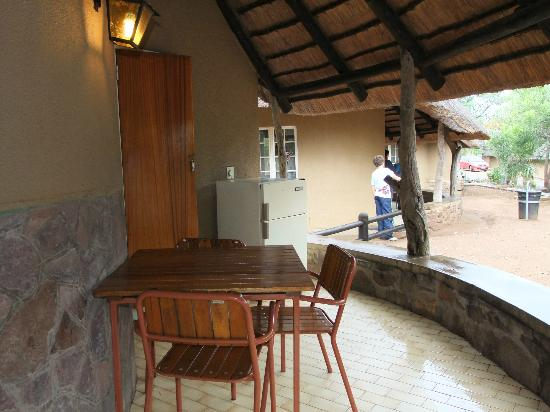 Olifants Rest Camp: patio esterno