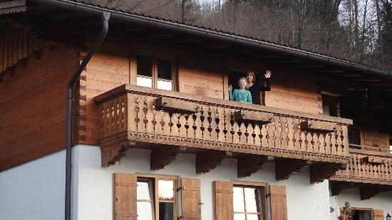 Friedwiese Guesthouse: Balkon unseres Zimmers