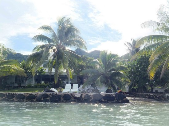 Atuana Lodge : Vue du lagon / view from the lagoon