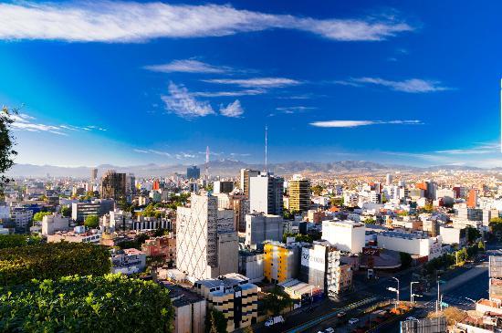 Hotel Royal Reforma: Вид с крыши отеля