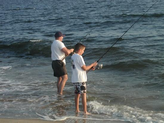 Lazy Hours Motel on the Beach : Shore fishing on Flagler beach