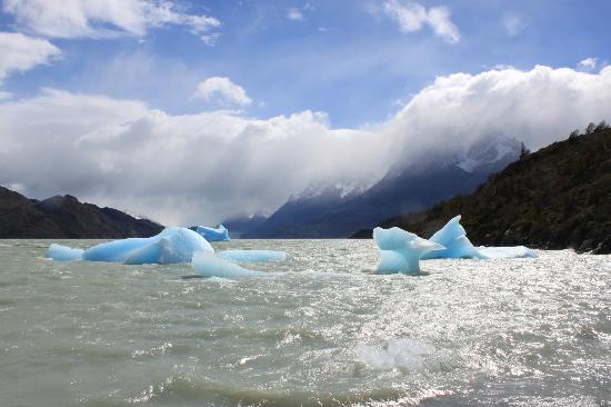 Ecocamp Patagonia: View of some of the icebergs.