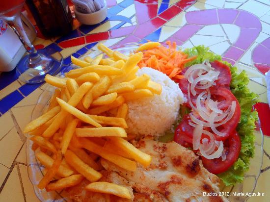 Sukao Bar : frango (pollo) Sukao al plato. Deliciaa!!!!!!!también puede ser con pescado o carne.