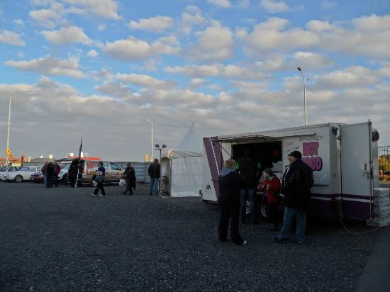 Food vans at Invercargill's Rugby Park Stadium