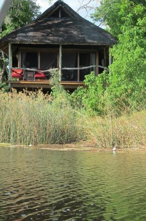 Wilderness Safaris Savuti Camp: view of 'room' from Savuti channel