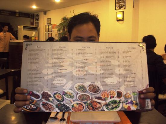 San Fernando La Union, Filippine: Menu!