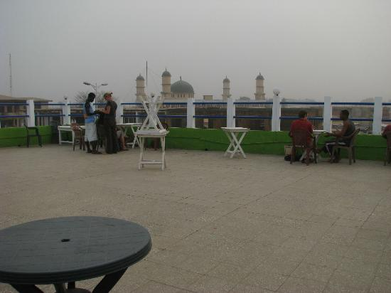 Crest Restaurant: Crest (Giddipass) Restaurant - Balcony (Mosque In Background)