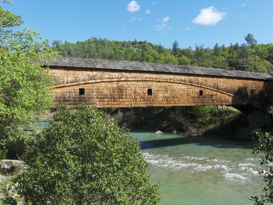 Covered Bridge on South Fork Yuba River in Penn Valley