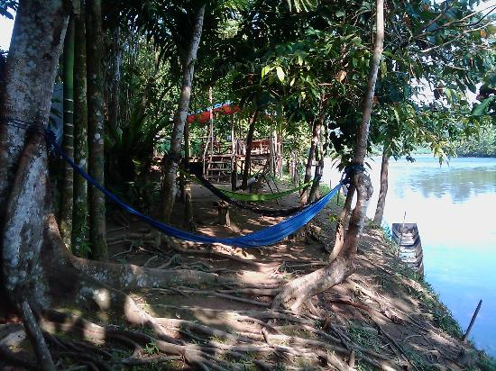 Sumbiling Eco Village: Relaxing by the river