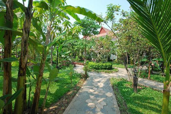 Sonalong Boutique Village & Resort: Walkway through gardens