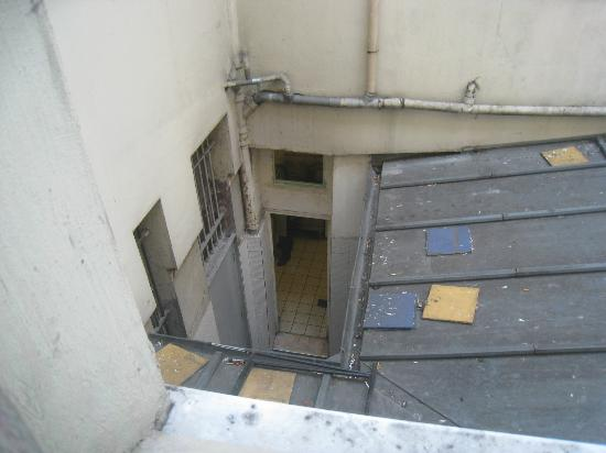 Friend's Hostel: View from my room - doorway is into cooking/kitchen area