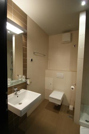 Birokrat Hotel : Bad mit Dusche