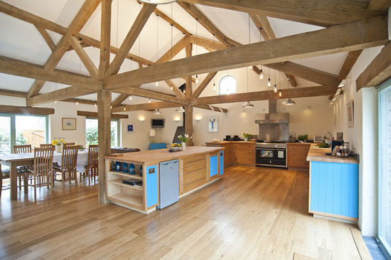 Moyles Farm: The new kitchen in The Mill.