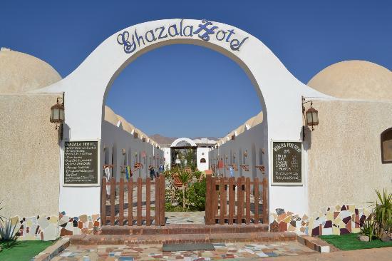 Ghazala Hotel: Blick in den Innenhof mit dem Zugang zu allen Zimmern