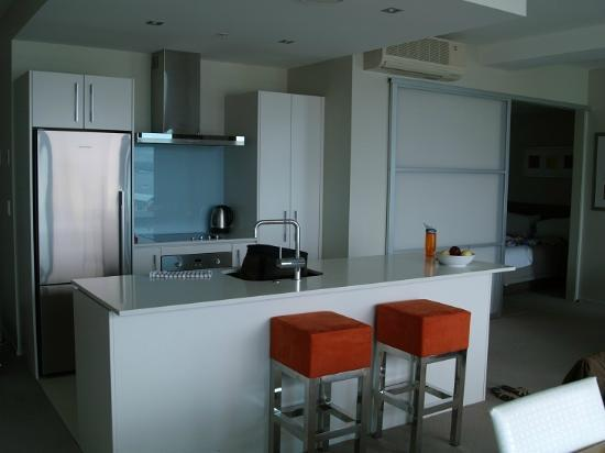 The Pacific Apartments: harbour view 2 bed apartment - kitchen