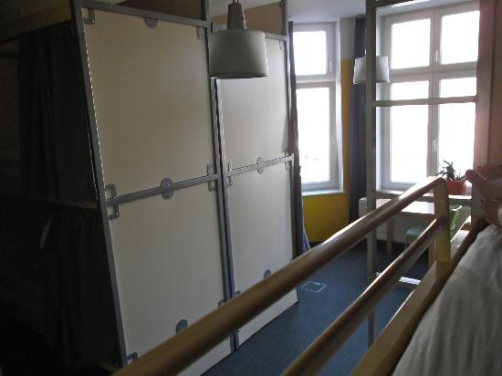 St. Christopher's Inn Berlin: View from top bunk is 8person dorm