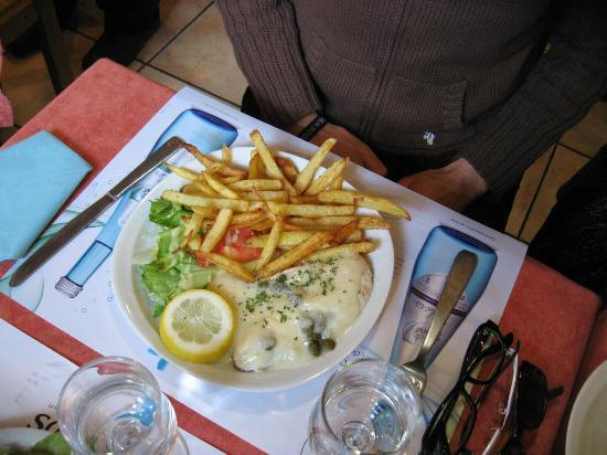 Brasserie La Pierre - Chez Edwige : loup aux câpres