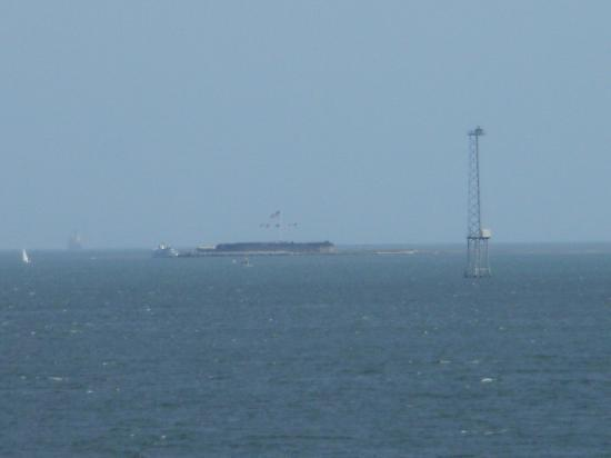 Harbourview Inn : View from room of Fort Sumter in Distance