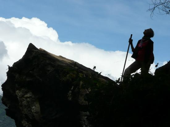 Private Tours Perú: At Machu Picchu, there are several hour-long hikes you can take. Here is an artsy shot of me on