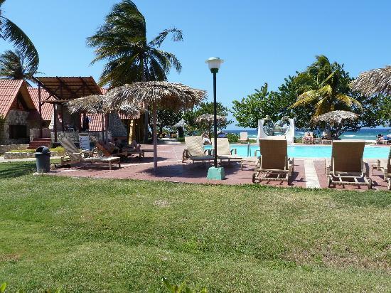 Islazul Villa Don Lino: Piscine avec buffet et bar à l'arrière