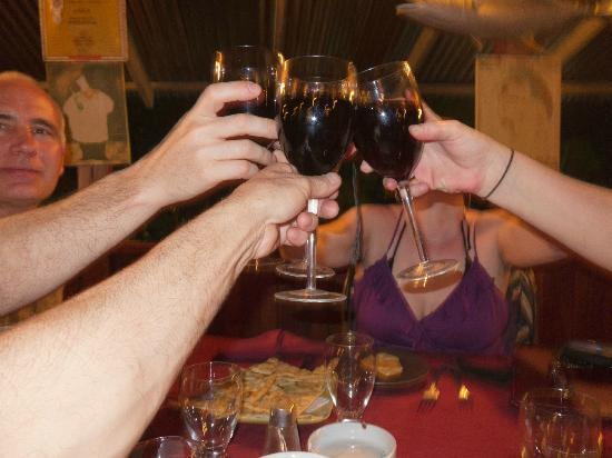 Dolce Vita: Their delicious Chianti is served in large glasses