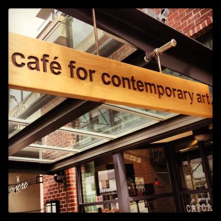 Cafe for Contemporary Art: Artists, designers, great people, music, amazing coffee and sandwiches