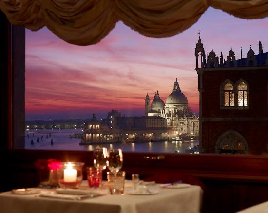 Restaurant Terrazza Danieli: Romantic dining over Santa Maria della Saute and Palazzo Ducale
