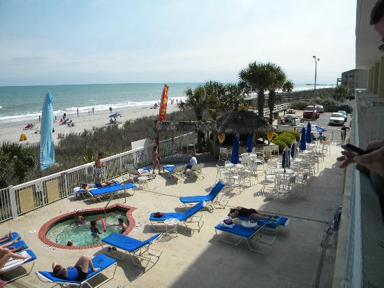 Holiday Inn Oceanfront At Surfside Beach View From 2nd Floor Balcony With Tiki Bar