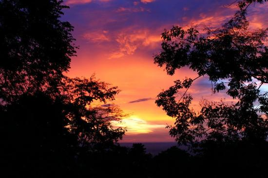 The Treehouse: One of many beautiful sunsets