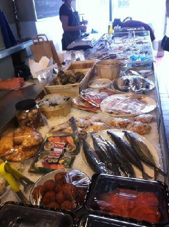 The Little Fish Market: fresh fish counter