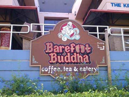 Barefoot Buddha Sign at Street Level