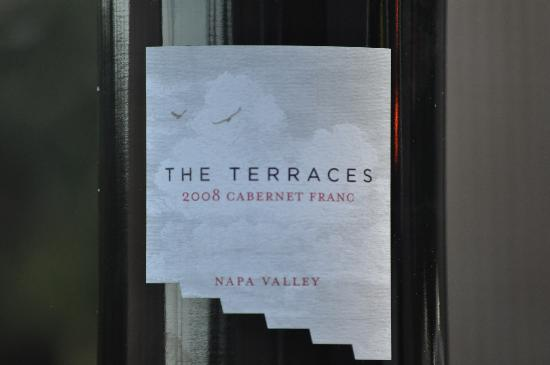 Hidden Napa Jeep Wine Private Tours: The Terraces Cabernet Franc - yummy!