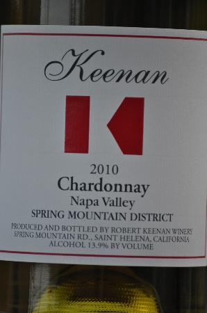Hidden Napa Jeep Wine Private Tours: Keenan Chardonnay - so crisp and refreshing!