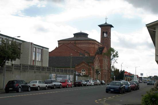 First Presbyterian Church: A lovely red building
