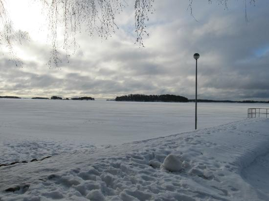 Hotel Rantapuisto: lake beside hotel